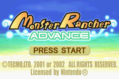 Monster Rancher Advance title