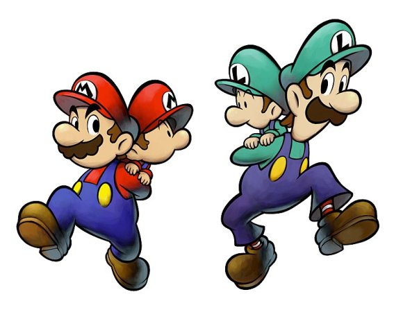 mario and luigi with babies
